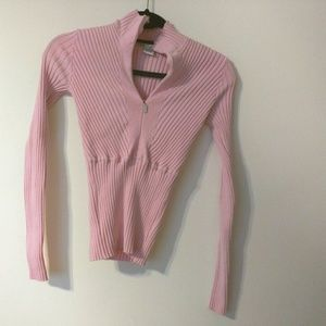 Cache Womens Tops Sz S Pink Zipped Up
